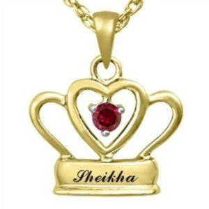 Sheikha 9K Yellow Gold pendant & Ruby center stone