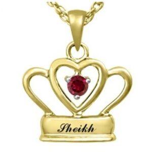 Sheikh 9K Yellow Gold pendant & Ruby center stone
