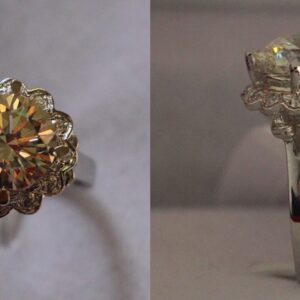 4 Carat Pure Gold Ring Featuring 585 Vintage Flower by Madaame