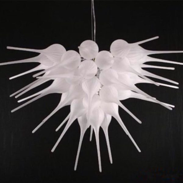 Pure White Crystal italianDecorative Chandelier by Madaame