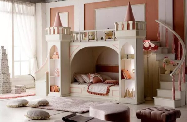 Luxurious Princess Castle Bunk Bed for Little Princesses from Madaame