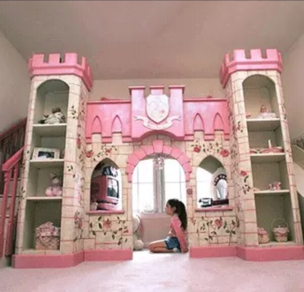 Luxury Princess Castle Bed for Childrens Room from Madaame