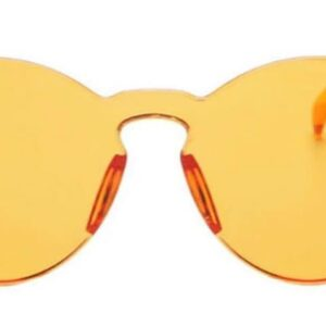 Yellow One Piece Transparent Plastic Lens sunglasses from Madaame