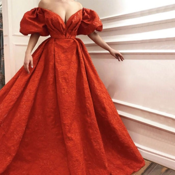 Red elegant Evening Gown from Madaame.co.uk