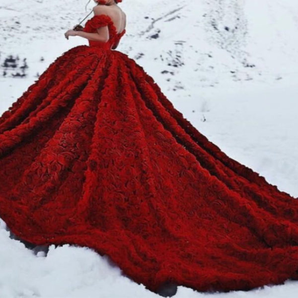 Red Riding Hood Ball Gown from Madaame.co.uk