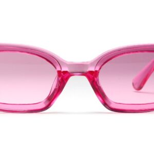 Transparent pink plastic sunglasses from Madaame
