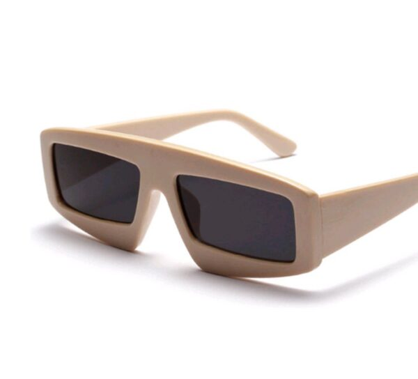 Futuristic robot fashion style sunglasses in brown/gold from Madaame