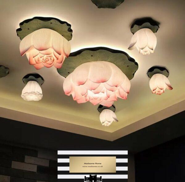 Lotus flower garden chandelier from Madaame