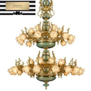 Italian Rose LED Ceramic Chandelier from Madaame
