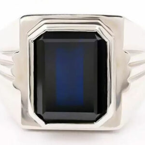Madaame and Her Man Mens 18K White Gold Ring