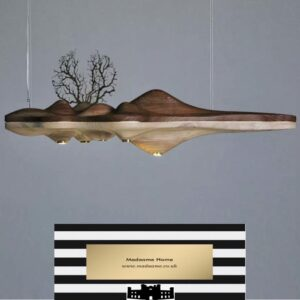 Creative UFO shaped wooden chandelier from Madaame