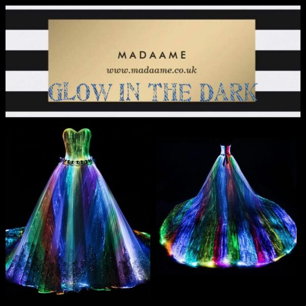 Glow In The Dark Evening Party Dress