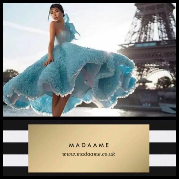 Sky Blue Elegant Evening Formal Dress