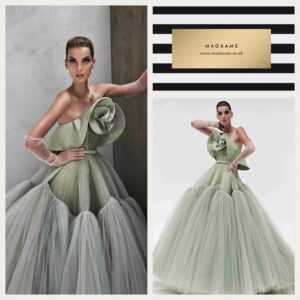 Haute Couture off the shoulder ball gown evening dress Haute Couture off the shoulder ball gown evening dress featuring formal ruffles and pleated tulle.