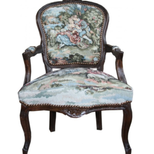 Baroque Salon Chair Tapestry Pattern