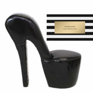 High Heel Platform Shoe Chair in glossy black from Madaame