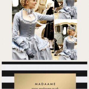 Marie Antoinette Blue Grey Gown