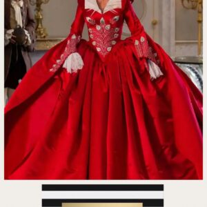 Marie Antoinette Red Ball Gown