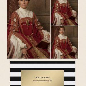 Marie Antoinette Renaissance Elizabethan Red Bodice