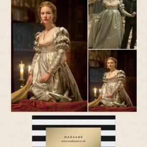 Marie Antoinette Renaissance Style Pale Green Gown