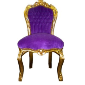 Baroque Dining Room Chair in Purple and Gold