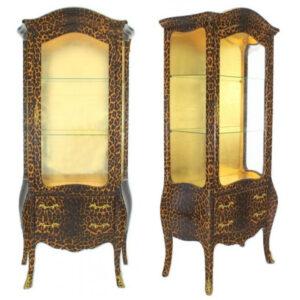 Handmade Leopard Baroaque Display Cabinet from Madaame