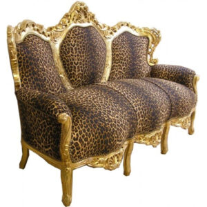 "Baroque Lounge Sofa ""King"" Leopard"