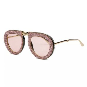 Multicolour Bling Rhinestone Sunglasses from Madaame