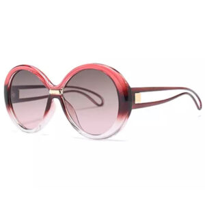 Oversized Pink Sunglasses with Hollow Legs from Madaame