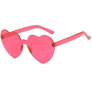 Retro Pink Hearts Plastic Lens Sunglasses