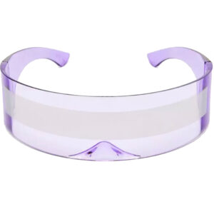 Purple Robo Cyberpunk Raver Shield Sunglasses from Madaame