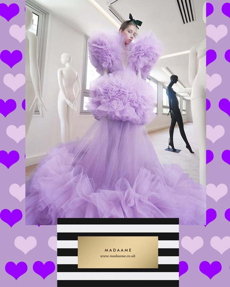 Lovely Lavender Maxi Gown Dress from Madaame